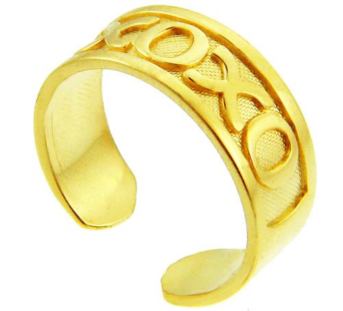 Yellow Gold XO Toe Ring