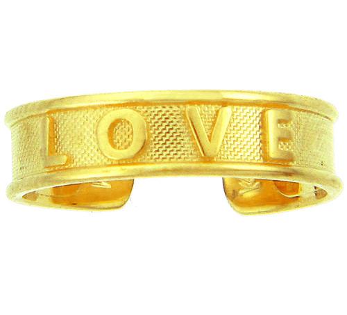 "Yellow Gold ""LOVE"" Toe Ring"