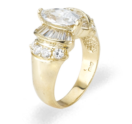 Ladies Cubic Zirconia Ring - The Hadley Diamento