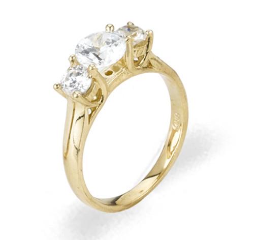 Ladies Cubic Zirconia Ring - The Reina Diamento