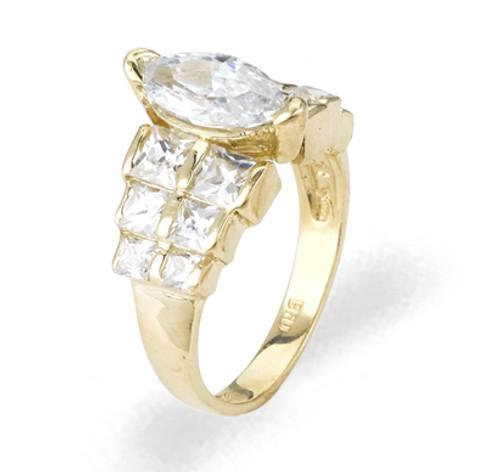 Ladies Cubic Zirconia Ring - The Akira Diamento