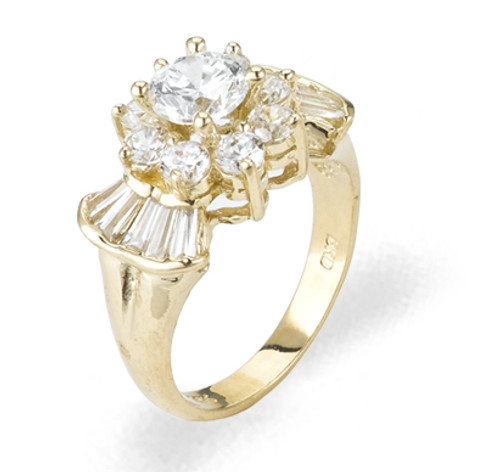 Ladies Cubic Zirconia Ring - The Sanaa Diamento