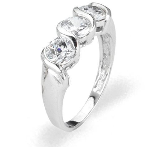 Ladies Cubic Zirconia Ring - The Raina Diamento