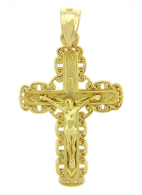 Yellow Gold Crucifix Pendant - The Purity Crucifix