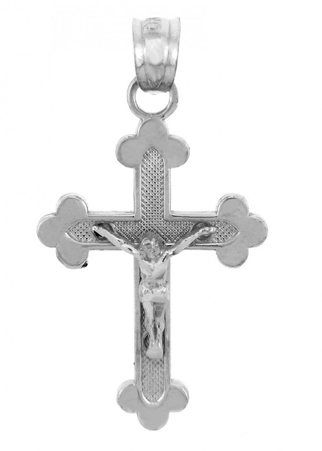 Sterling Silver Crucifix Pendant - The Blessed Trinity Crucifix
