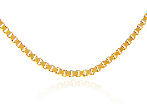 Gold Chains: Box Link Yellow Gold Chain .82mm