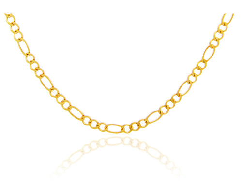 Gold Chains: Figaro Gold Chain 4.68mm