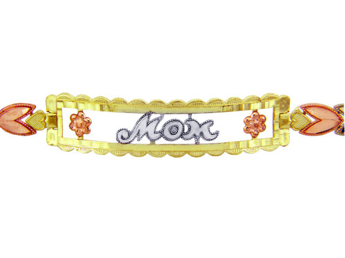 Tri-Color Gold Bracelet - The MOM Diamond Cut Bracelet