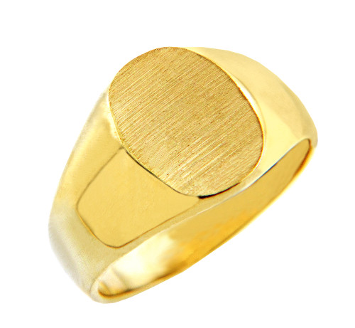 Men's Gold Signet Rings - The Brad Solid Gold Signet Ring