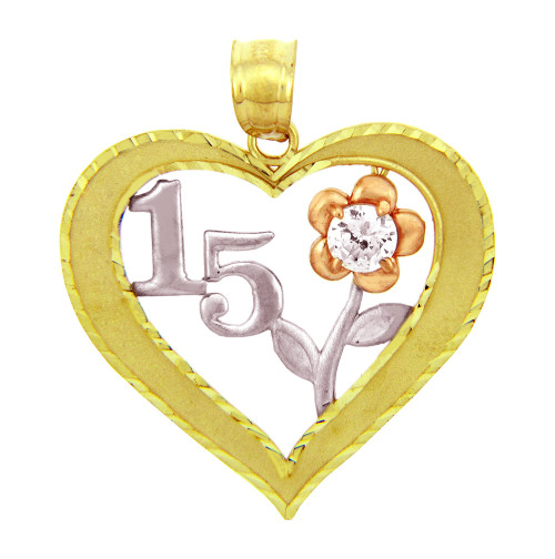 Sweet 15 Quinceanera CZ Pendant