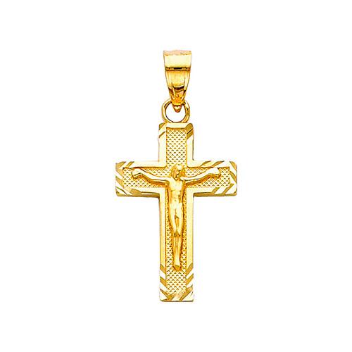 14K Gold Angelica Crucifix