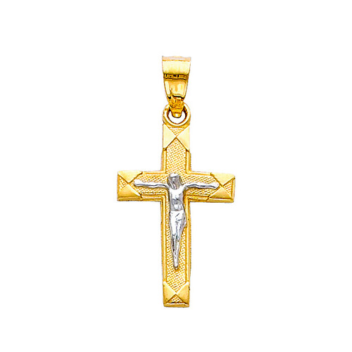 14K  Two-Tone Holy Trinity Crucifix