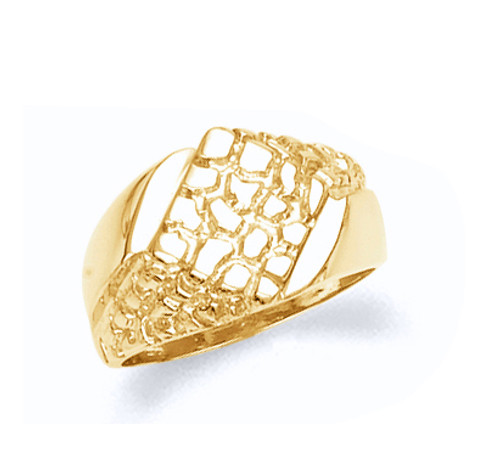 Nugget gold Mens Ring