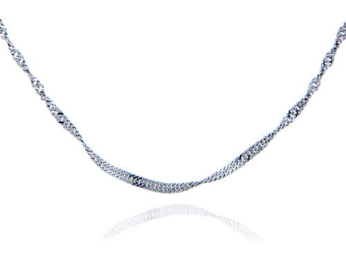 Sterling Silver Singapore Chain 1.52 mm