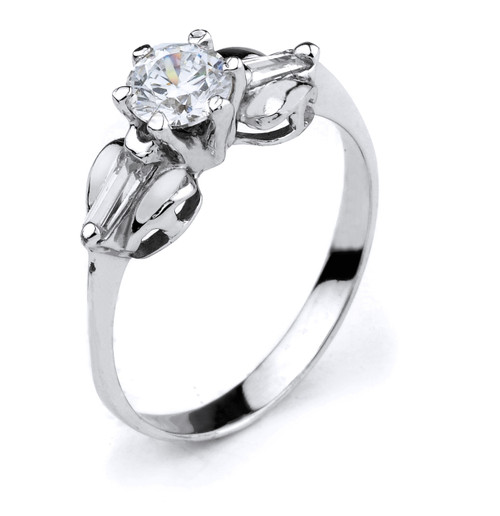 10k Gold  Cubic Zirconia Engagement Ring