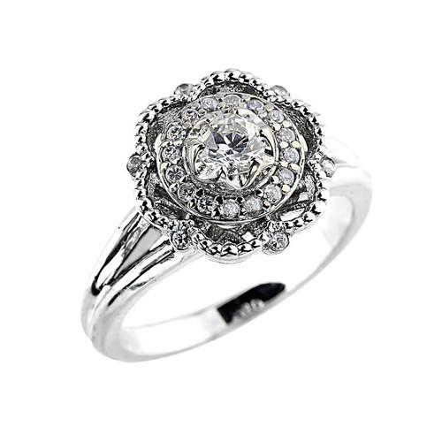 14k Gold Diamond Engagement Promise Ring