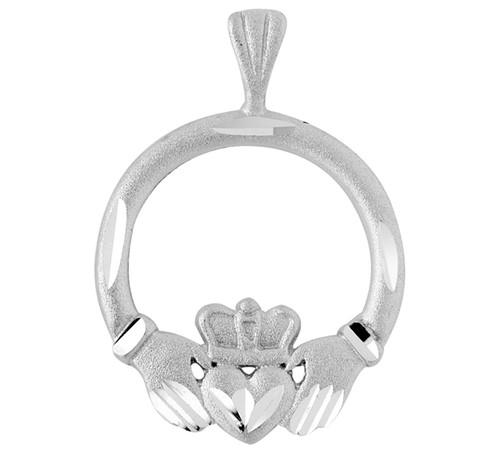 Silver Celtic Cladagh Pendant