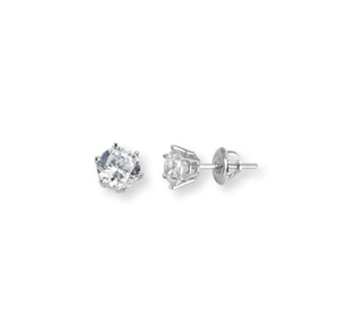 White Gold Stud Earrings1