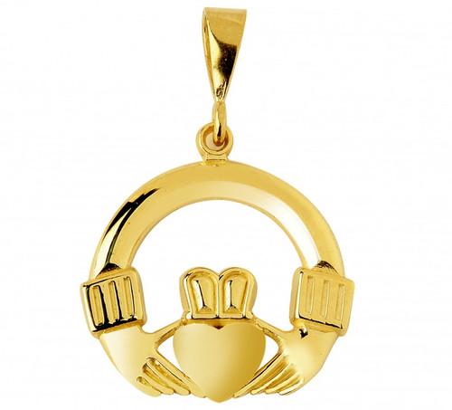 Claddagh Pendant Yellow Gold