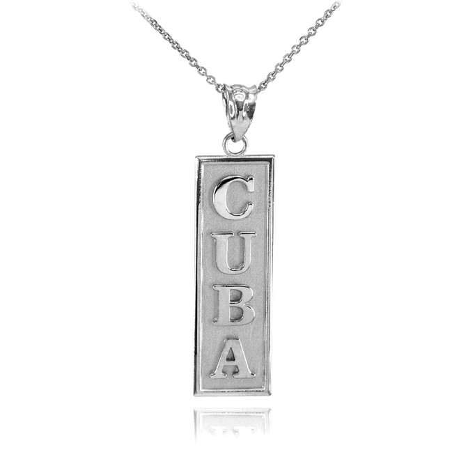 Sterling Silver CUBA Pendant Necklace
