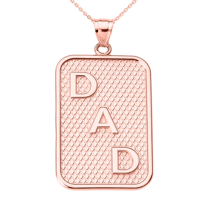"Rose Gold ""DAD"" Pendant Necklace"