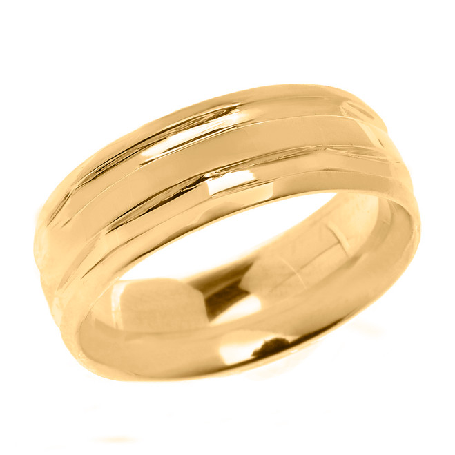 Yellow Gold Comfort Fit Modern Wedding Band