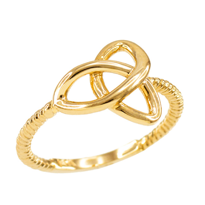 Yellow Gold Ladies Trinity Ring