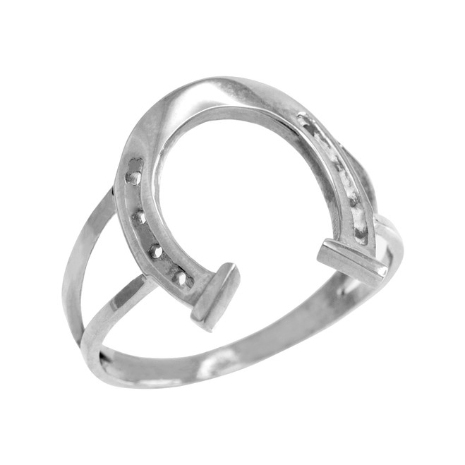 Sterling Silver Classic Good Luck Horseshoe Ring