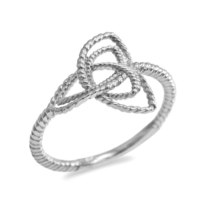Silver Triquetra Celtic Knot Promise Ring