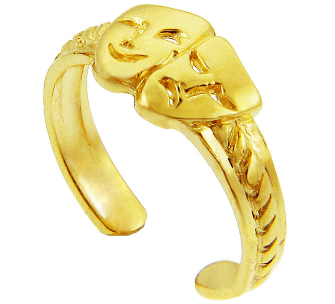 Yellow Gold Drama Toe Ring