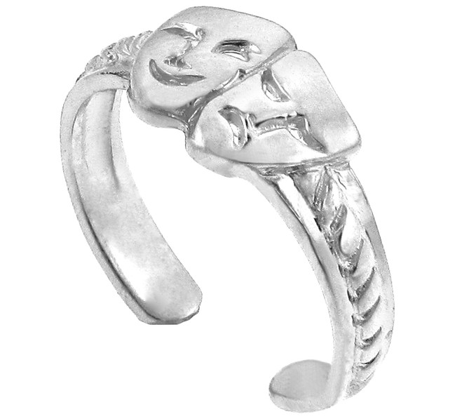White Gold Drama Toe Ring