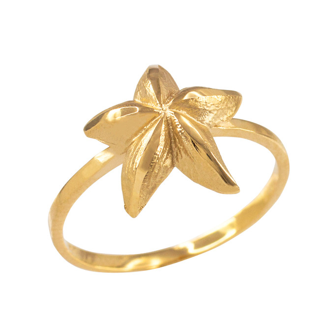 Dainty Gold Starfish Ring