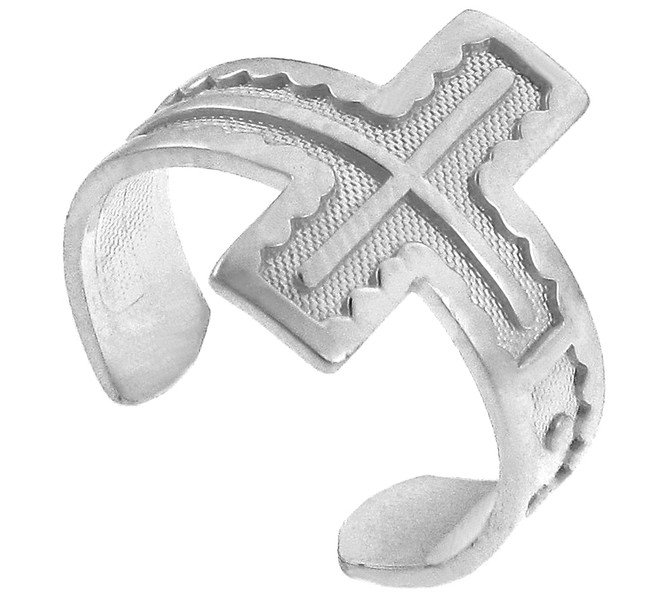 Silver Cross Toe Ring