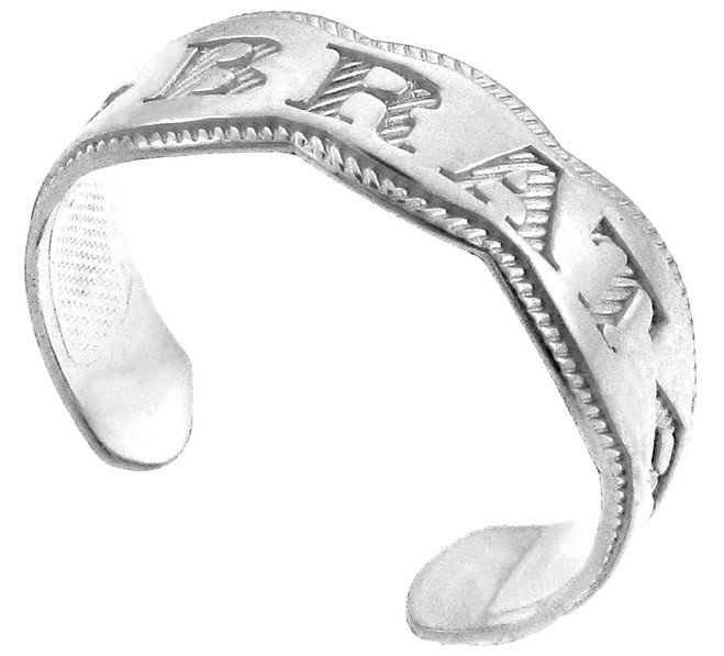 "Silver ""BRAT"" Toe Ring"