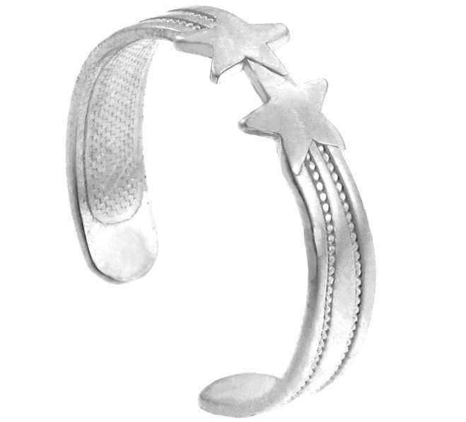 Silver Stars Toe Ring