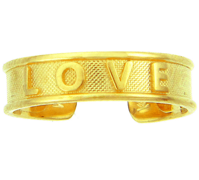 "Yellow Gold ""LOVE"" Toe Ring"