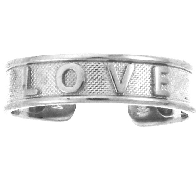 "White Gold ""LOVE"" Toe Ring"