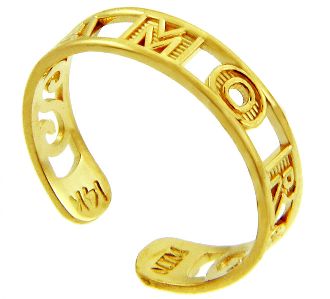 AMOR Yellow Gold Toe Ring