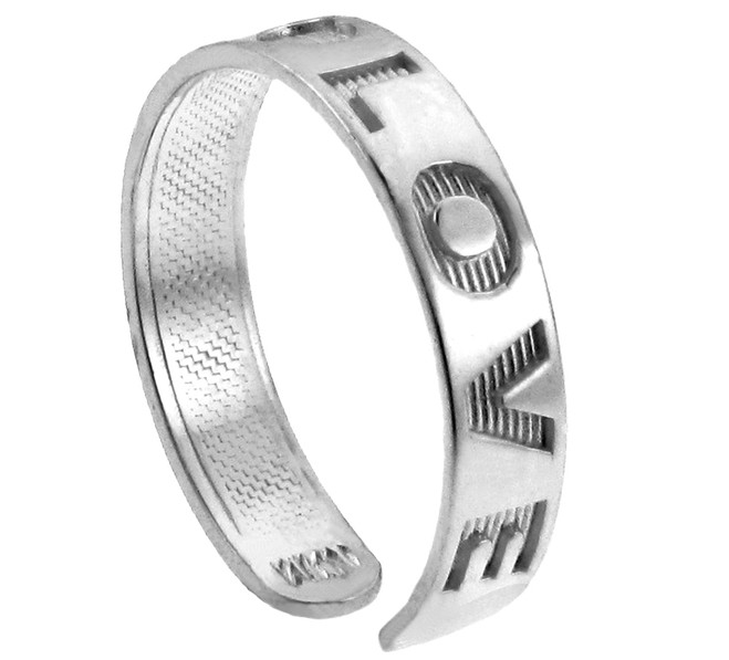 """LOVE"" Silver Toe Ring"