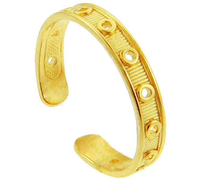 Yellow Gold Designer Toe Ring