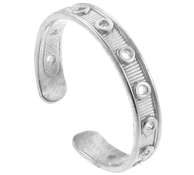 White Gold Designer Toe Ring