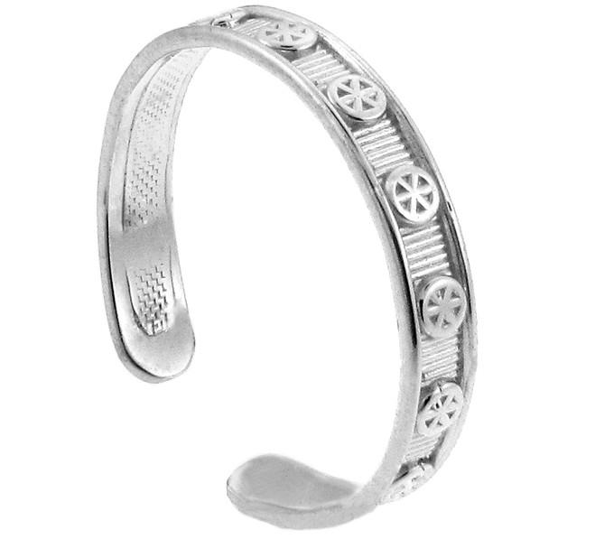 Silver Circular Toe Ring