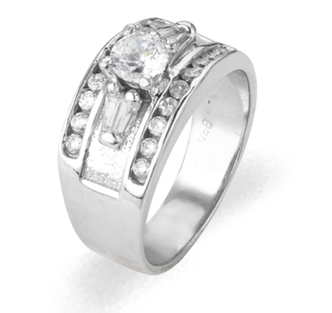 Ladies Cubic Zirconia Ring - The Acacia Diamento