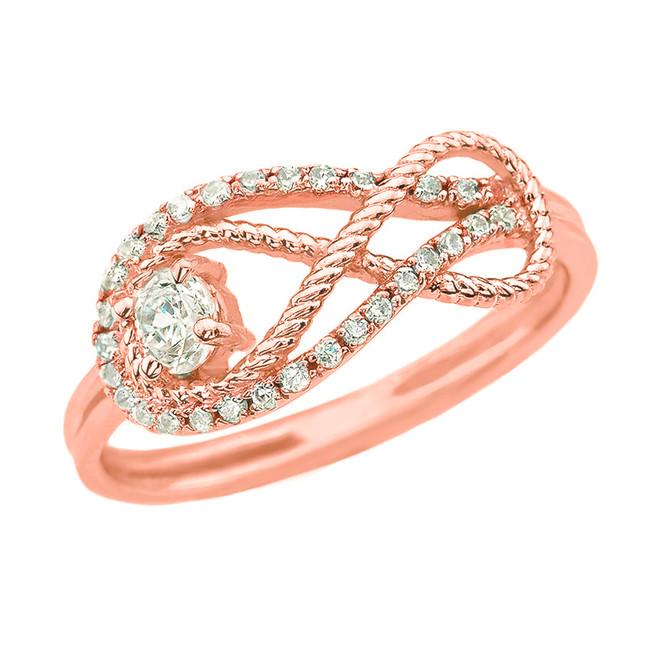 Diamond Infinity Ring in Rose Gold