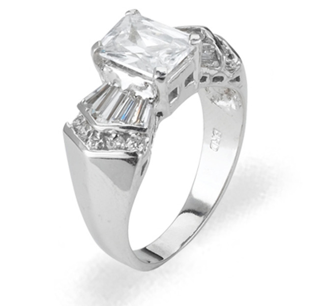 Ladies Cubic Zirconia Ring - The Maeve Diamento