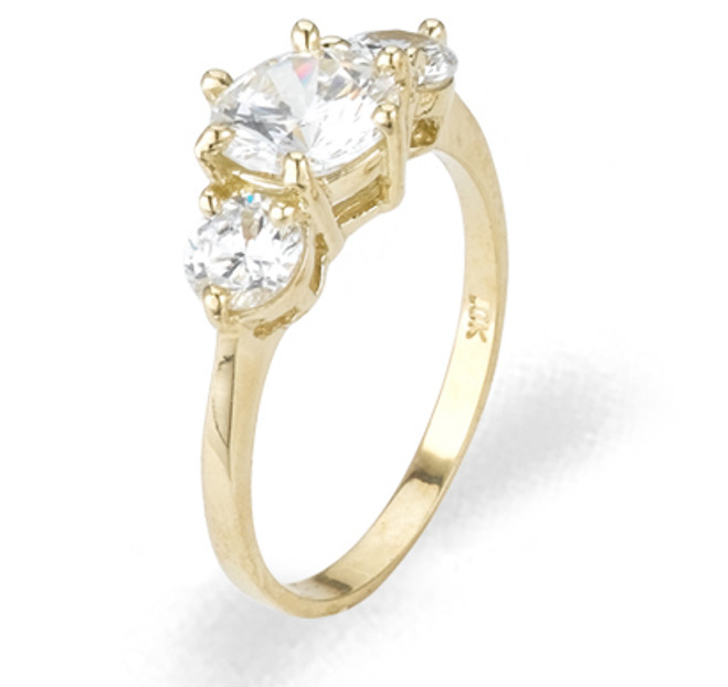 Ladies Cubic Zirconia Ring - The Anjali Diamento