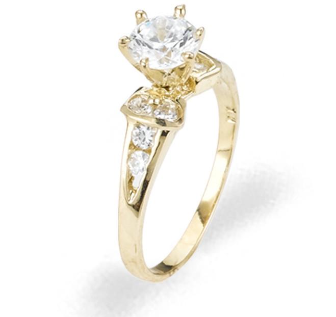 Ladies Cubic Zirconia Ring - The Unity Diamento