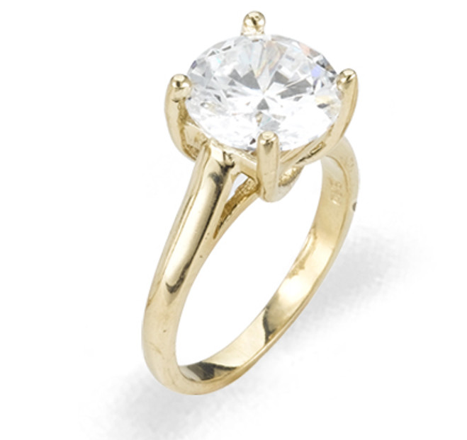 Ladies Cubic Zirconia Ring - The Naomi Diamento