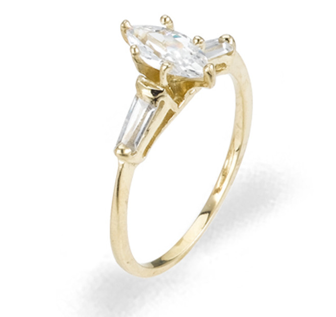 Ladies Cubic Zirconia Ring - The Rena Diamento