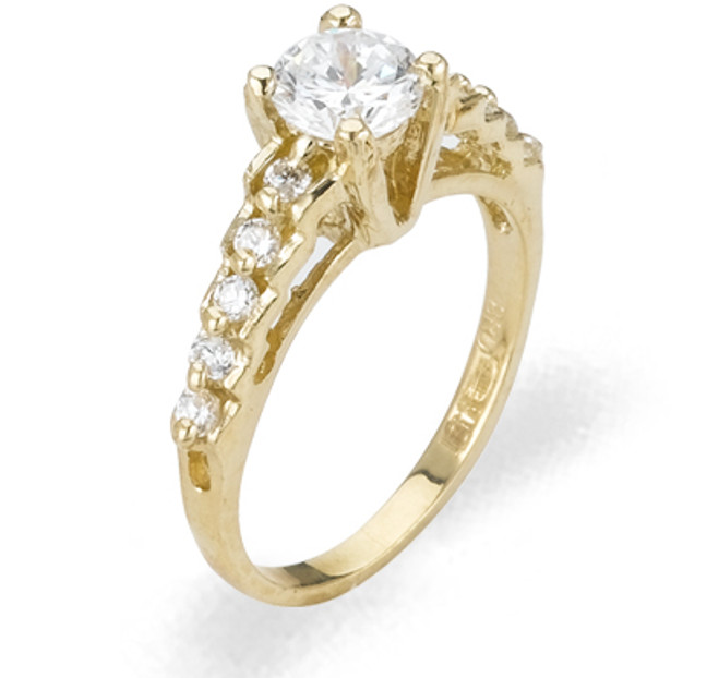 Ladies Cubic Zirconia Ring - The Fae Diamento
